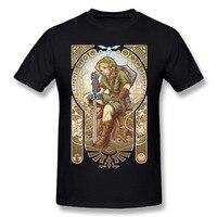 Crew hals Streetwear 2018 nieuwe collectie zachte Populaire T-shirt Custom Man 100% Katoen De Legende van Zelda T-Shirt
