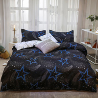 Dropshipping Bedding Sets Duvet Cover3/4pcs Cartoon new fashion Bed sheets s Gifts for Children star
