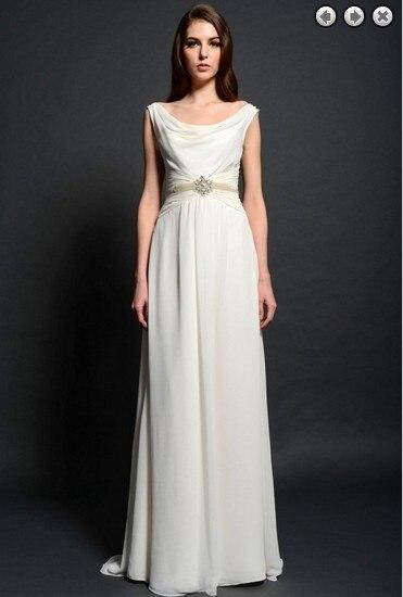 free shipping new Fashion dinner maxi brides maid vestidos formales white long Graduation   bridesmaid     Dresses   beaded bridal belt