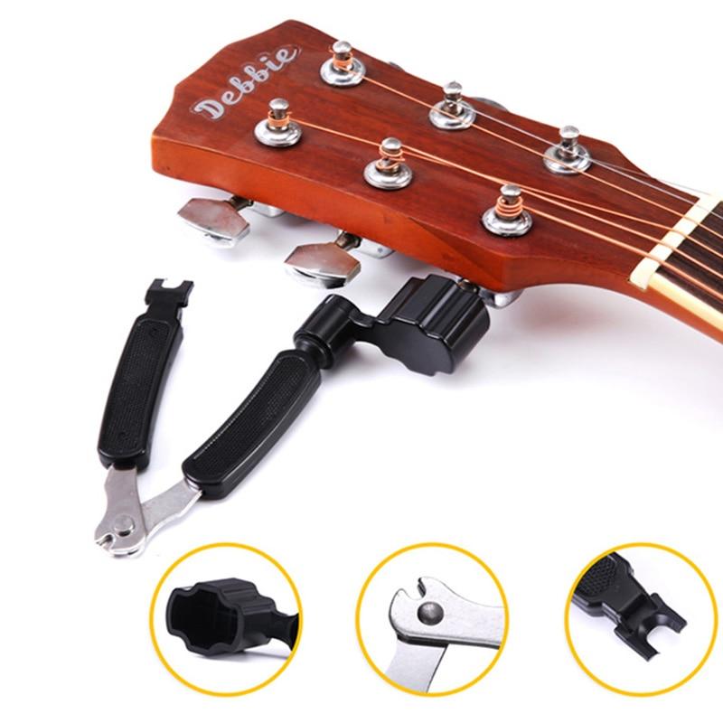3 in 1 multifunction guitar string winder cutter guitar peg string winder string pin puller. Black Bedroom Furniture Sets. Home Design Ideas