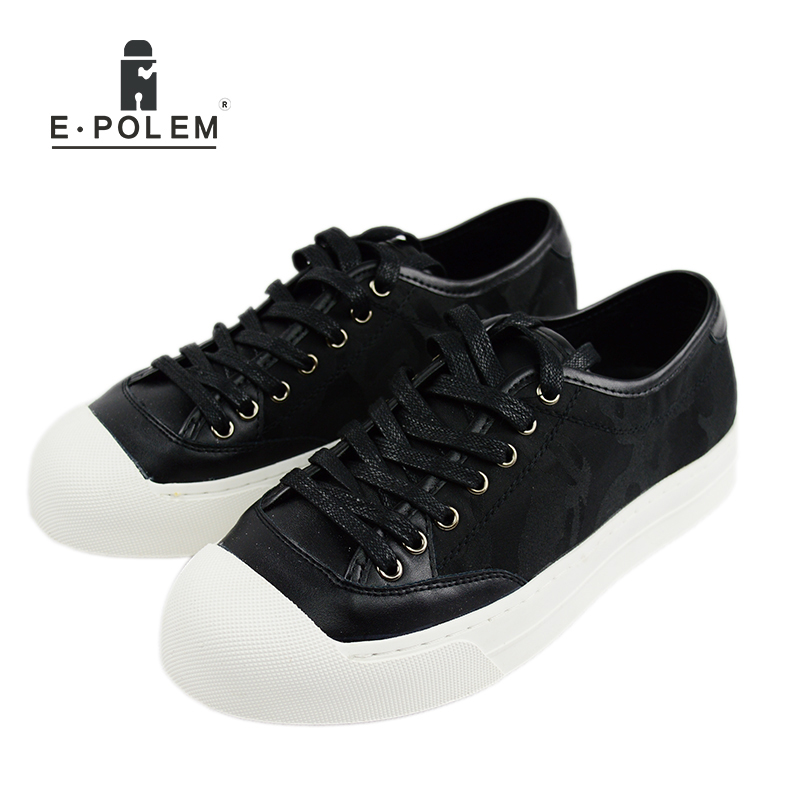 Superstar Camouflage Mens Casual Shoes  Fashion Walking Lace up Leather Flats Men Platform Shoes 2017 New A