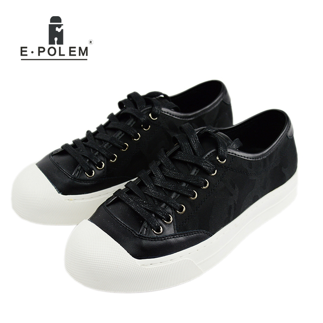 Superstar Camouflage Mens Casual Shoes Fashion Walking Lace up Leather  Flats Men Platform Shoes 2017 New
