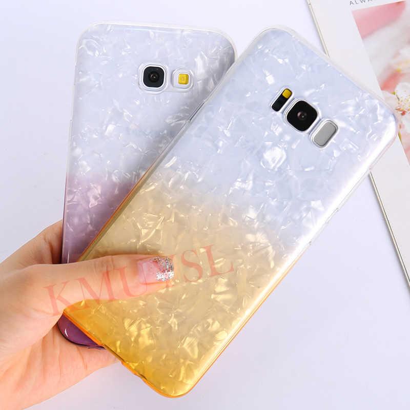 Gradiente Caso Brilho Para Samsung Galaxy A50 A30 M20 M10 S10E S9 S8 S10 Plus J6 J4 J8 A9 A8 A6 A7 2018 A5 J5 2017 Nota 9 8 Capa