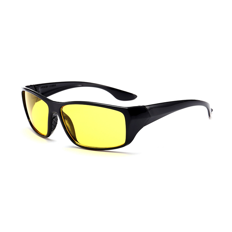 Glasses Goggles Drivers Protective Yellow-Lens Black-Frame Night-Vision Anti-Glare Car