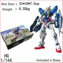 New Gundam Model HG 1:144 Scale Mobile Fighter GN-001 EXIA Assembly Full set Mobile Suit Kids Toys Included in Base