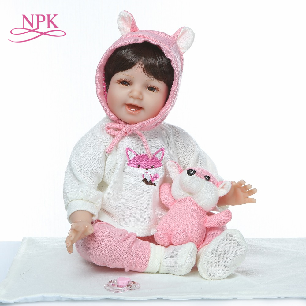 NPK 55cm soft Silicone Body Reborn Baby Doll Toy For Girl Newborn Princess Babies Bebe Accompanying Toy Birthday GiftNPK 55cm soft Silicone Body Reborn Baby Doll Toy For Girl Newborn Princess Babies Bebe Accompanying Toy Birthday Gift