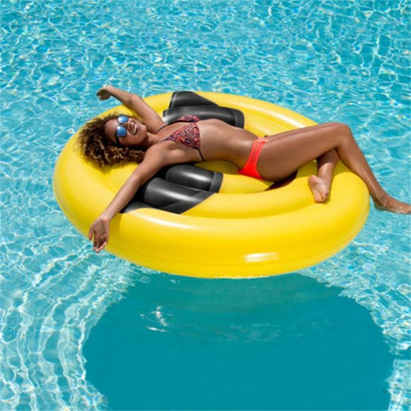 Inflatable Smile Peach Blossom Eye Floating Mat Swimming Pool Outdoor WATER PARK Sunbathe Mattress Swim Ring Summer Toy L1945