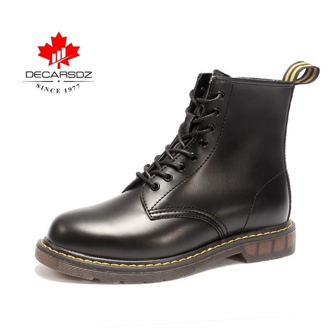 Erkek çizmeler, DECARSDZ yarım çizmeler erkekler, su geçirmez erkekler için dantel-up ve zip ile çizmeler motosiklet/iş/kapalı/açık. rahat ayakkabılar