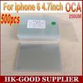 500 unids OCA optical adhesive clear 250um Para iphone6/6 s oca adhesivo freeshipping DHL