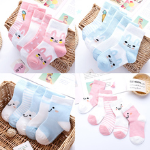 5 pairs of spring and summer hot sale baby cute cartoon socks children soft cotton comfortable socks baby socks thin 0-8 years pink cat 5 pairs baby socks spring and autumn cartoon children s socks unisex all combed cotton newborn socks 10 color