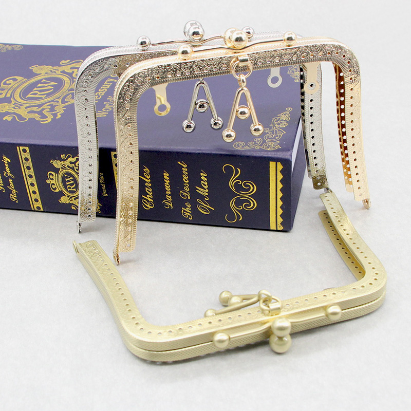 1 pcs Size 16 CM Three Colors Sewing Metal Purse Frame Handle A Number Fashion Sewing DIY Handbag Accessories Metal Purse Frame