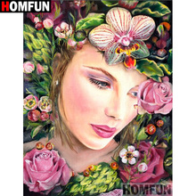 HOMFUN Full Square/Round Drill 5D DIY Diamond Painting Flower beauty Embroidery Cross Stitch 3D Home Decor Gift A13160 homfun full square round drill 5d diy diamond painting beauty flower embroidery cross stitch 3d home decor gift a13396