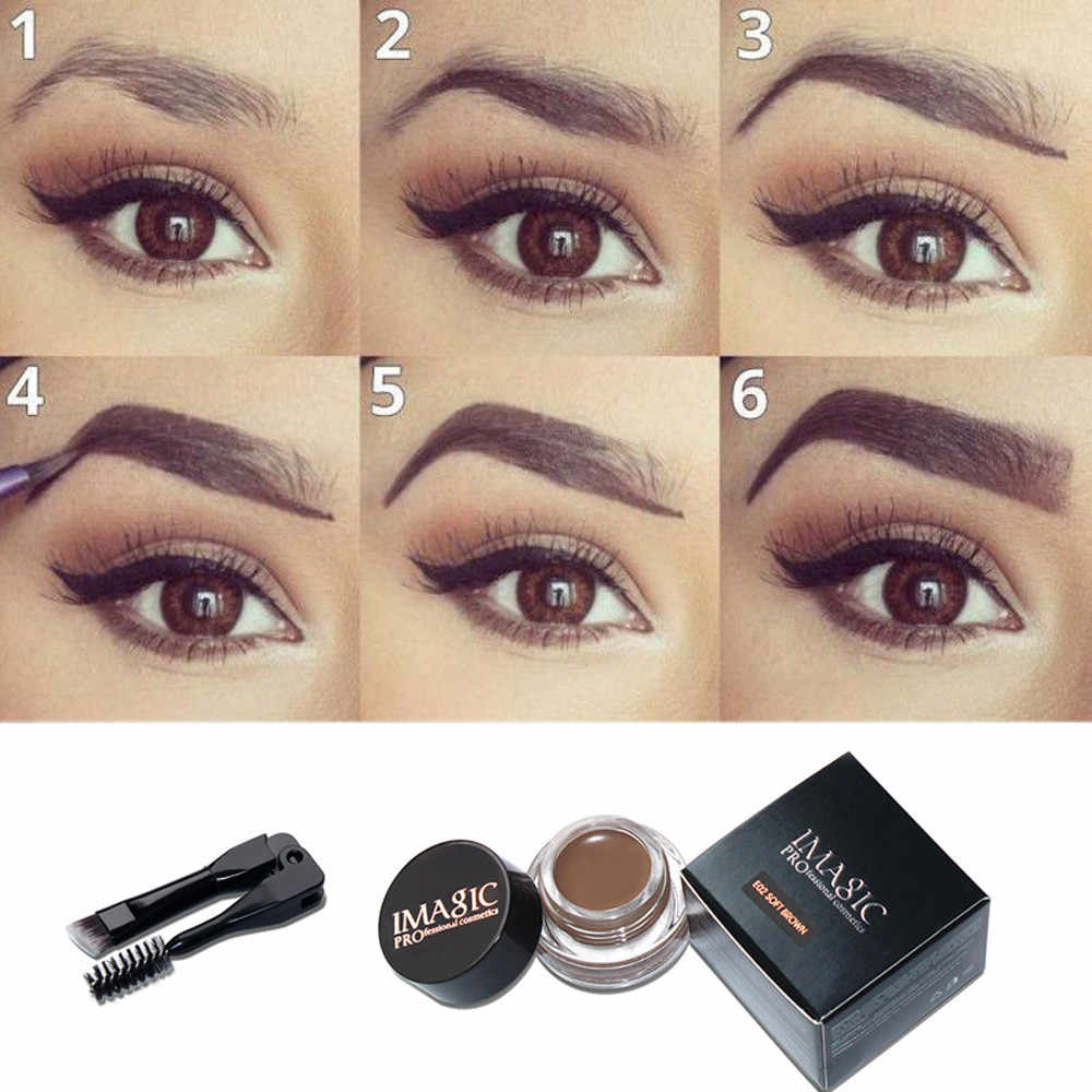 5 Colors Eyebrow Pomade Gel Waterproof Maquiagem Makeup Accessories Eye brow Eye Liner Gel Long lasting Eye Brow Gel Tint #25