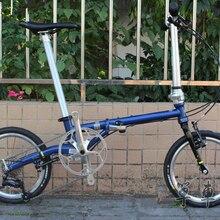 "Fnhon CR-MO стальной складной велосипед 1"" Minivelo Mini velo 9 скоростной велосипед велосипедный комбинезон V тормоз"