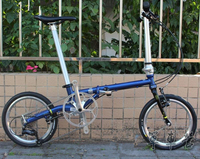 Fnhon CR MO Steel Folding Bike 16 Minivelo Mini velo 9 Speed Bike Bicycle overall bike V Brake