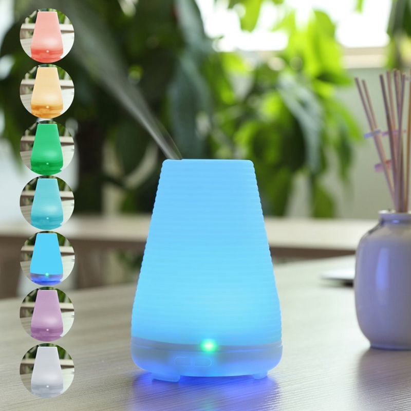 CHERN 100ML Colorful LED Light Ultrasonic Humidifier Air Electric Aromatherapy Essential Oil Aroma Diffuser for Home Office hot sale humidifier aromatherapy essential oil 100 240v 100ml water capacity 20 30 square meters ultrasonic 12w 13 13 9 5cm