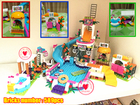 New Lepin 01013 Girls Club The Heartlake Summer Pool Set Compatible With Legoe Friends 41313 Model