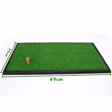 CRESTGOLF 33x63cm Golf Mat Residential Training Hitting Mat Pad Green Grass Indoor Backyard Practice Mat With Rubber Tee Holder
