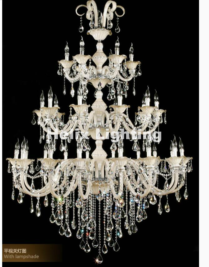 Champagne Whitel D150cm H200cm 32 Arms E14 LED Royal Crystal - Inomhusbelysning - Foto 2