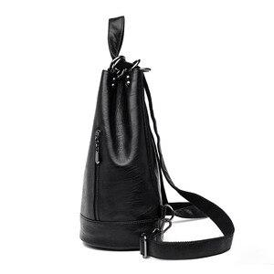 Image 3 - 2019 frauen Leder Rucksäcke Große Kapazität Reise Rucksack Sac a Dos Femme Weibliche Vintage Rucksack Damen Bagpack Schule Tasche
