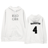 ALIPOP Kpop EXO CBX GIRLS CHEN XIUMIN Album Thin Hoodie With Hat Hoodies Clothes Pullover Printed