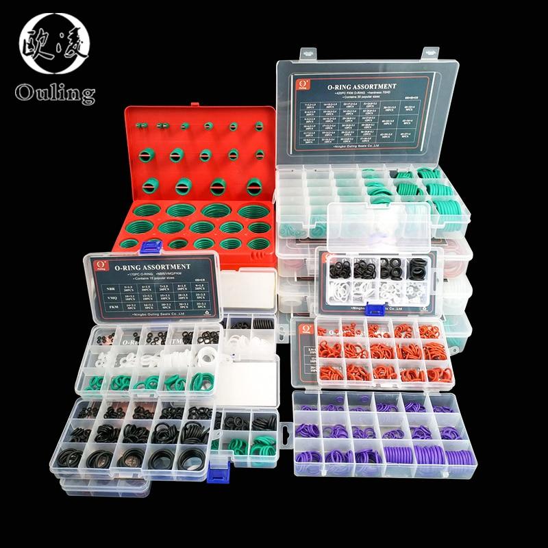 O Ringe Gummi/Silikon O Ring Dichtung Viton NBR FKM Dicht O-ringe Nitril Washer Gummi oring set sortiment Kit Set Box Ring