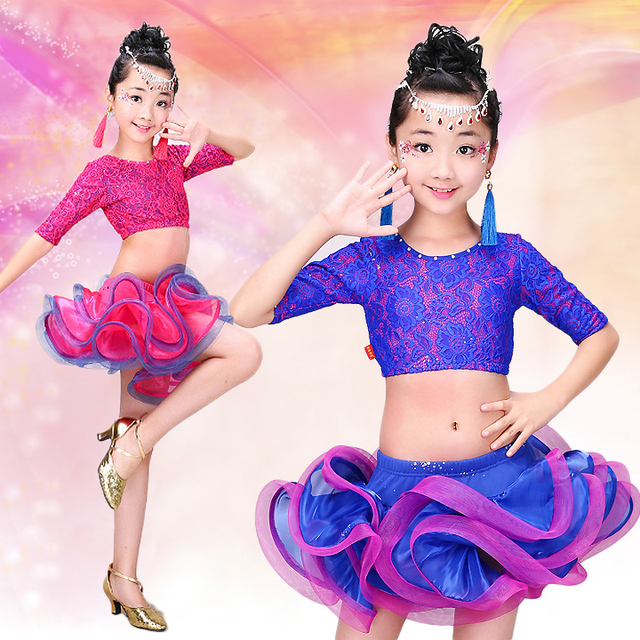 325038c49809 kids latin dance dress for girls samba children dresses cha cha for ...