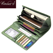 Contacts Handmade Knitting Wallets Women Sheep Leather Ladies Clutch Wallet Card Holder Zipper Coin Purse Female Phone Pocket