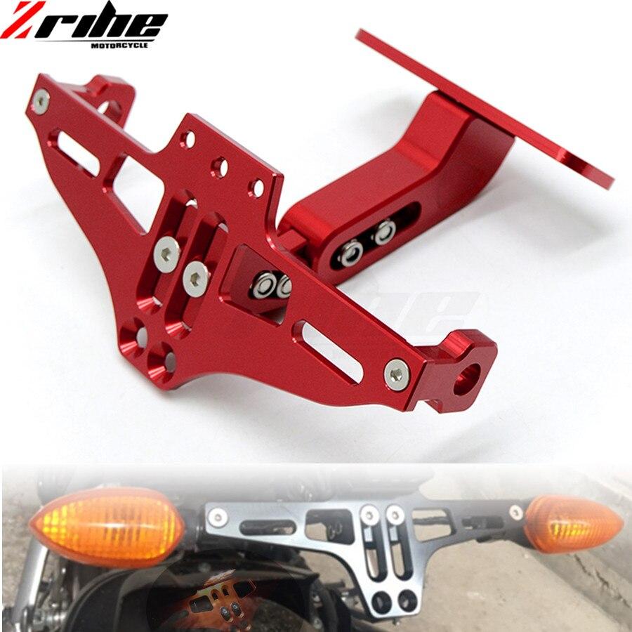 Motorcycle License Plate Bracket Licence Plate Holder Frame Number Plate For Honda Cbr 600 F2 F3 F4 F4i 900 Cbr900rr cbr1000 700