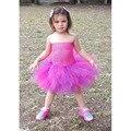 Purple Hot Pink Tutu Dress for Girls Purple Hot pink Knee length Girls Dresses for Photo shot prop, dress- up girl PT45