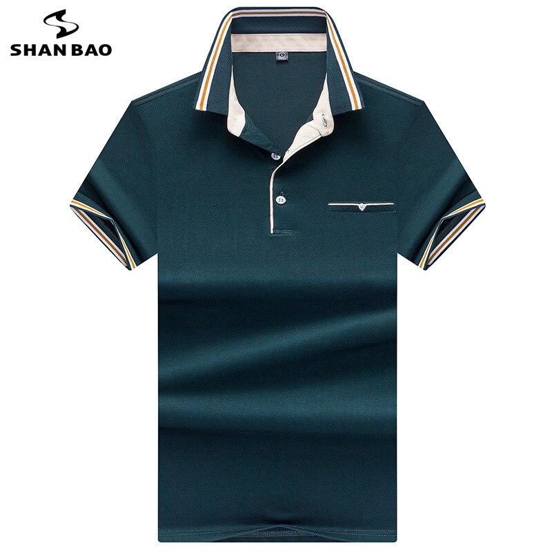 2019 d'été de mode rayé couleur correspondant revers coton à manches courtes polo style Britannique d'affaires décontracté hommes de polo