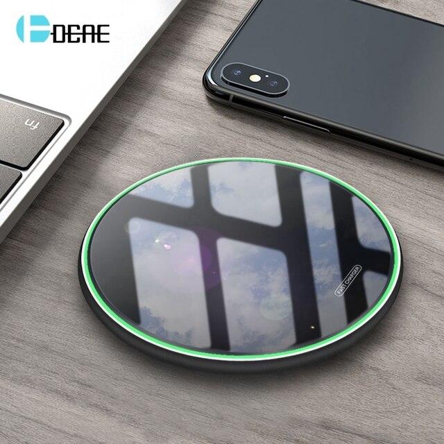 FDGAO 10W Sạc Không Dây Qi Cho iPhone 11 Pro X XS XR 8 Nhanh Sạc Dành Cho Samsung S8 s9 S10 Note 9 8 USB Sạc Điện Thoại Miếng Lót