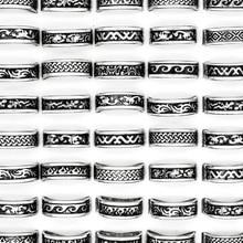 24 stücke Heißer Verkauf Retro Stil Punk Bump Kreuz Edelstahl Ringe Für Frauen Männer Mode Großhandel Schmuck Bulks Viele