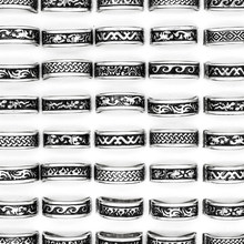 24 Pcs Hot Sale Retro Style Punk Bump Cross Stainless Steel Rings For Women Men Fashion WholeSale Jewelry Bulks Lots(China)