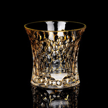 Old Fashioned Whiskey Glass Trace Golden Crystal Drinking Glasses Chivas Wine Cup Bar Vasos De Cristal Verre A Vin Vidro Tumbler