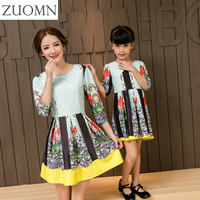 New Year Mother Daughter Dresses Cute Family Matching Outfits Look Mom And Daughter Baby Girls Dress Half Kids Clothing GH276