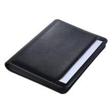 Многофункциональный чехол-папка для документов, деловой портфель, органайзер, А4, из искусственной кожи, на молнии, с откидной крышкой, камулятор
