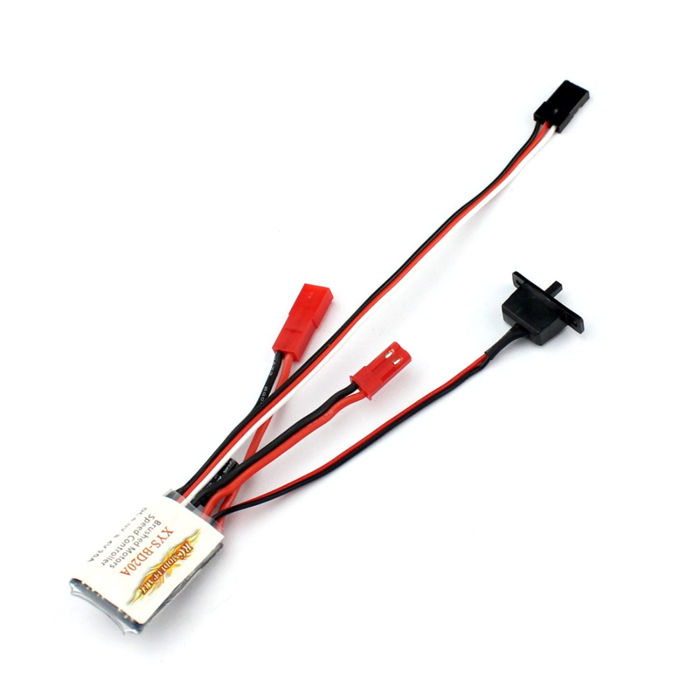F05614 20A Brushed ESC No Brake Function Car Motor Speed Controller Bothway  for 1/16 1/18 RC Car Boat great hobbyking extreme short course short course brushless motor 120a 2s 4s esc speed controller for 1 8 1 10 suv car
