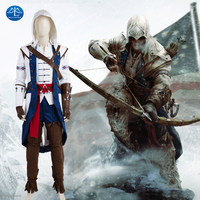 MANLUYUNXIAO New Arrival Gry Znaków Connor Assassins Creed Kostium Cosplay Kostium Halloween Kostiumy Dla Mężczyzn Wykonane Na Zamówienie