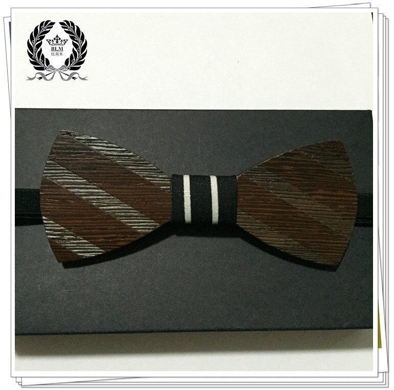 Дизайн американского дерева галстук-бабочка жениха платья партии Галстуки творческому деревянная бабочкой бабочка 1 шт./лот