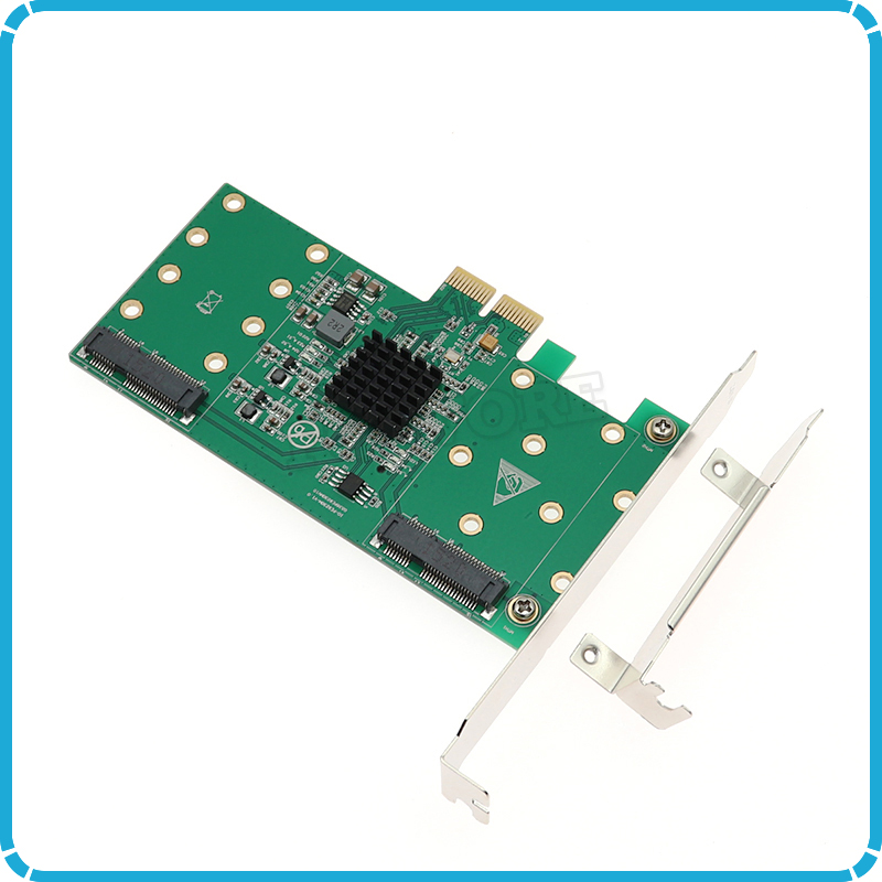 4 Port mSATA Raid Card PCIE Riser Card Converter PCI E SSD RAID Acceleration Expansion Cards