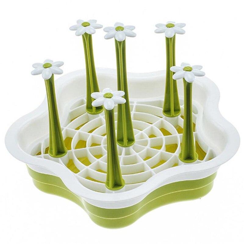 1 Set Kitchen Drain Cups Holder Rack with Leaking Water Bottom Flower Tree Bars Detachable Mug Draining Shelf Plate drop ship