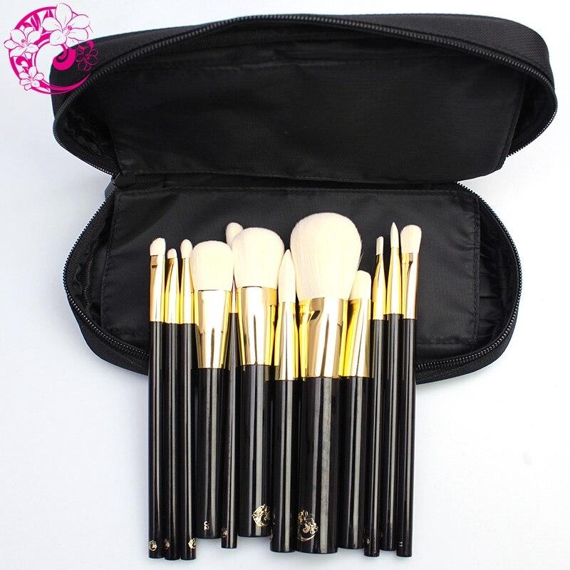 Энергии бренд 11 шт. Профессиональный набор кистей для макияжа Make Up кисти синтетические волосы Алюминий наконечник деревянной ручкой Pincel ... - 2