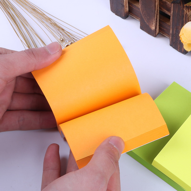 1 Pack 100 Sheets Sticker Paper Note Decoration Memo Pads Stickers Self-Adhesive Sticky Notes Post It Deli 9085