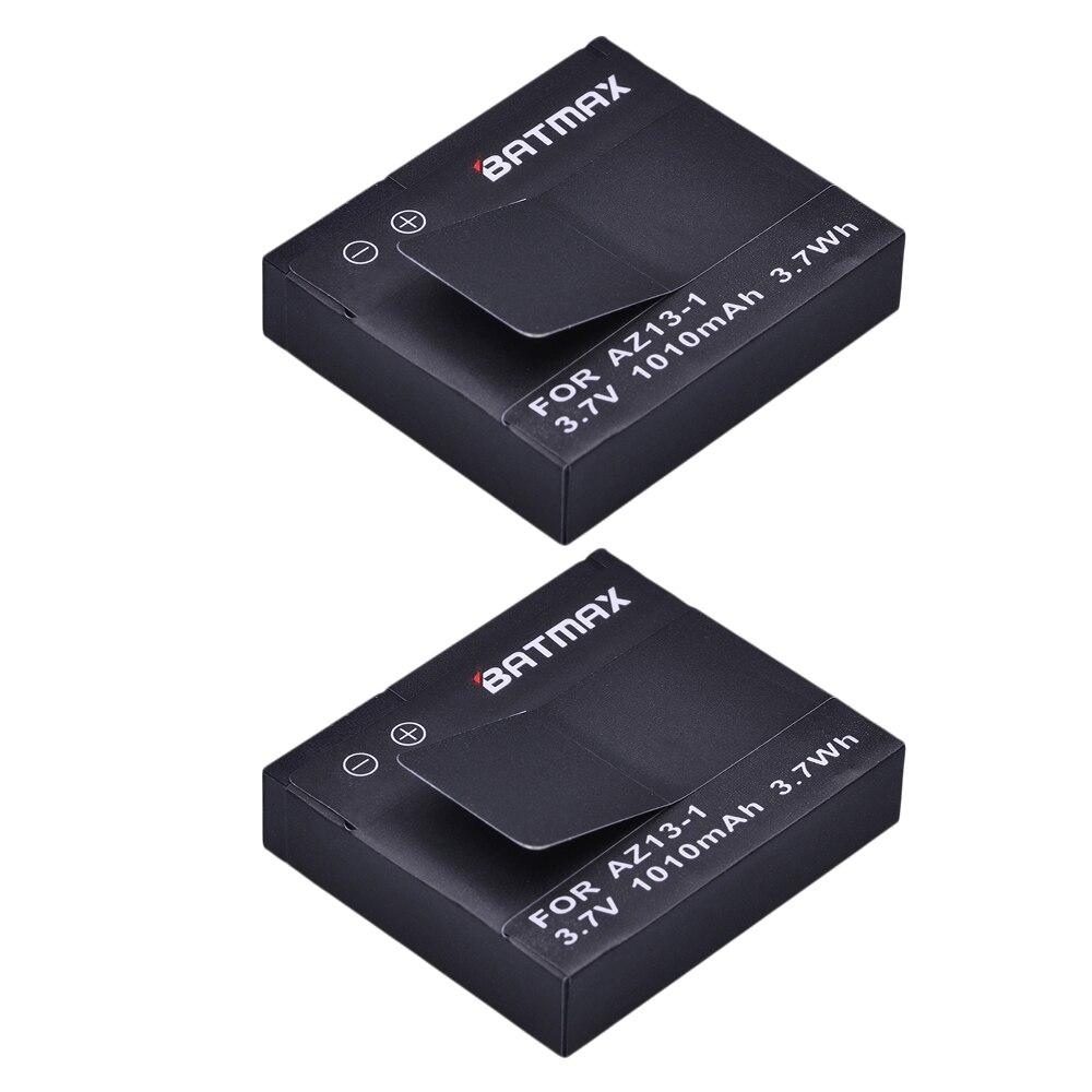 For 2Pcs Xiaomi Yi Battery AZ13-1 Akku 1010mAh Rechargeable Li-ion Battery For Xiaomi Yi Action Camera Sport Camera Accessories