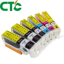 6 Pack PGI 570 571XL Ink Cartridge Compatible for Canon PIXMA MG5750 MG5751 MG5752 MG6850 MG6853 TS6050 6051 6052 5050 5051 5052