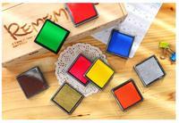 15 цветов 4 * 4 см новые конфеты цвет чернилами для штамповки площадку свадебный подарок подушечка для мастеров штамповка смешная этикетки jj0087