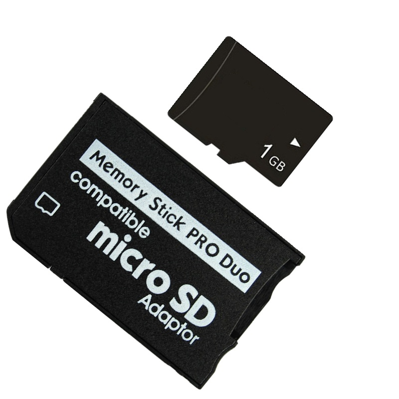 NEW!!! MICRO TF SD CARD 1GB 2GB 4GB 8GB TF Card Memory Card + Micro TF To Memory Stick MS Pro Duo PSP Adapter