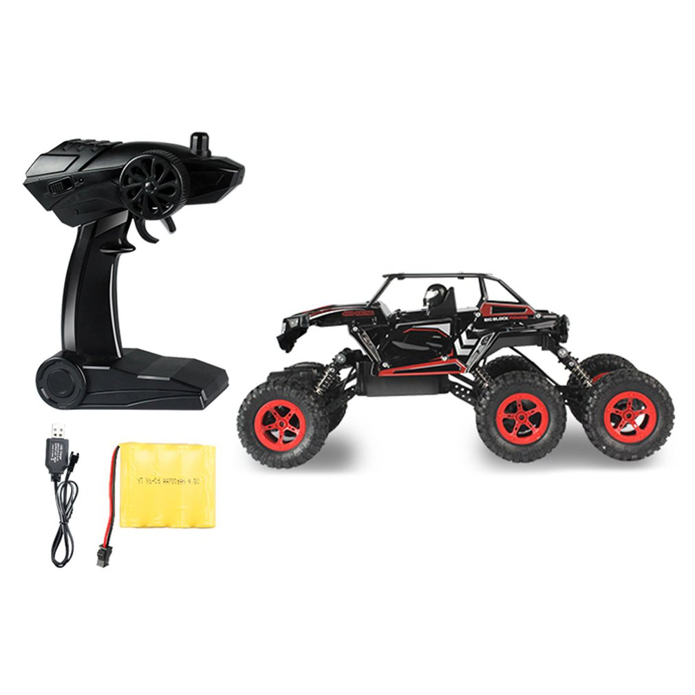 D819 1/14 2.4GHz RC Car 6-wheel Drive Rock Crawler High Speed Racing Car Buggy Climbing Off-Road Car Truck Toy Gift for Children high speed climber rc racing car toys 1 12 2 4ghz 4 wheel drive devastator rock crawler off road rc car toy gift for children