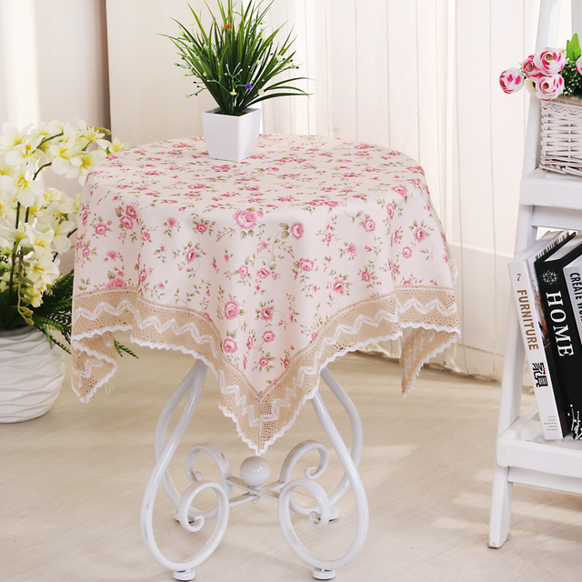 1Pcs Thicken PVC Rural Printing Fabric Lace Tablecloth Tea Table Cloth  Cover Ark Cover Mensal Tablecloth